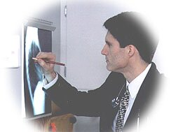 Dr. Gerald Natzke Looking at x-ray
